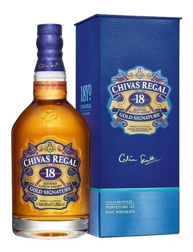 whisky chivas regal 18 años con estuche escoces