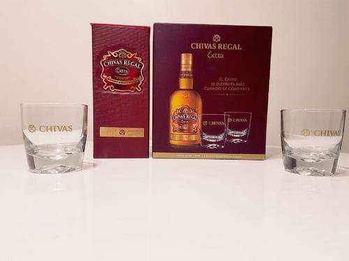 whisky chivas regal  extra  x 750ml + 2 vasos ((estuche))