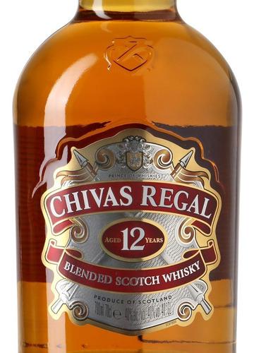 whisky chivas regal x 1 litro 12 años botella retiro envios