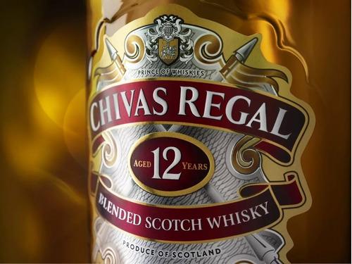 whisky chivas regal x 750 cc 12 años botella retiro o envios