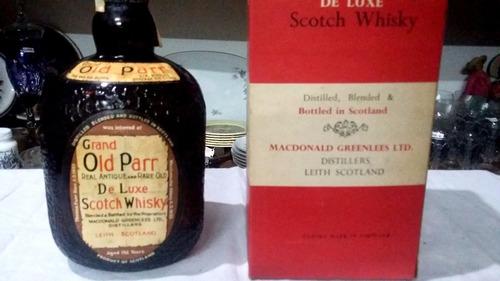 whisky escoces old parr en caja anejo cerrado