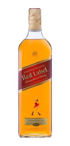 whisky escocês johnnie walker red label garrafa 1 litro