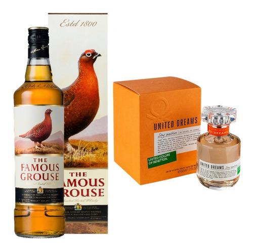 whisky famous grouse + perfume benetton dia de la madre!!