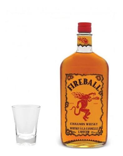 whisky fireball cinnamon - 750ml + brinde
