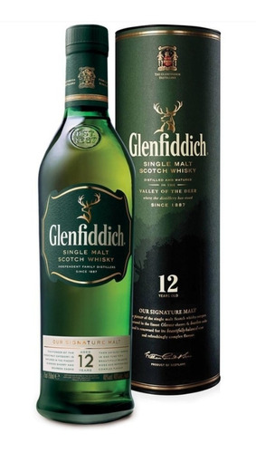 whisky glenfiddich 12 años botella