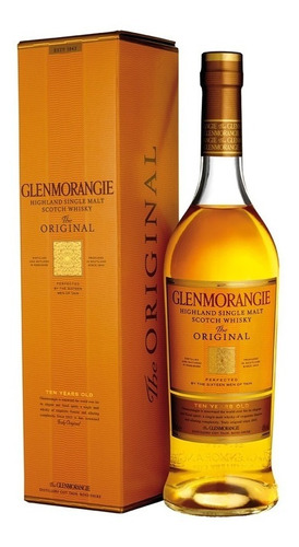 whisky glenmorangie single malt 10 años con estuche