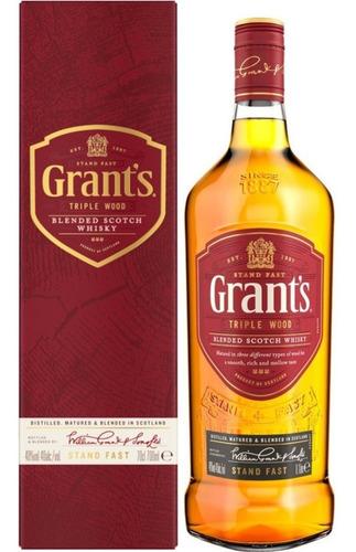 whisky grants triple wood 750ml blend escoces estuche botell
