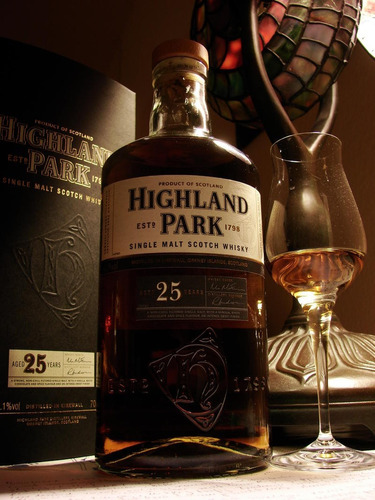 whisky highland park 25 años single malt con estuche