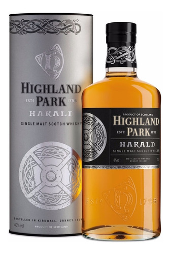 whisky highland park harald single malt en lata escoces