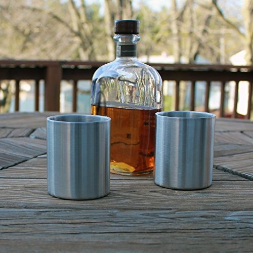 whisky inoxidable old fashioned glass - double wallled - 10o