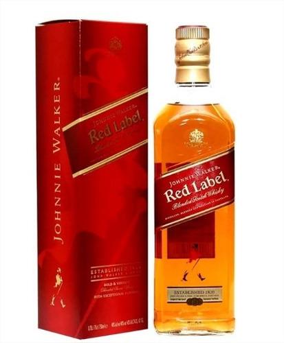 whisky j walker etiqueta red 750 ml licor gift