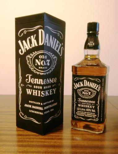 whisky jack daniels con estuche de litro