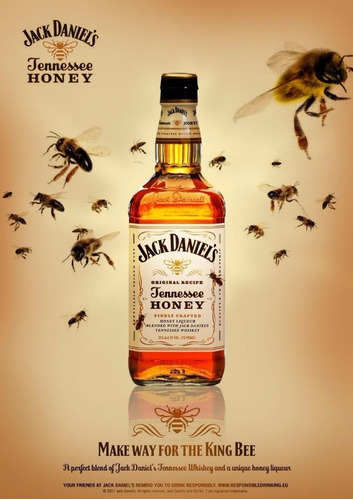 whisky jack daniels honey 750ml / original