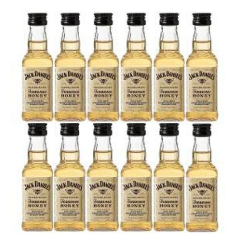 whisky jack daniels honey miniatura 50ml. pack x 10 unidades