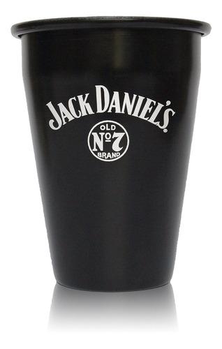 whisky jack daniels n7 petaca 200ml + vaso aluminio