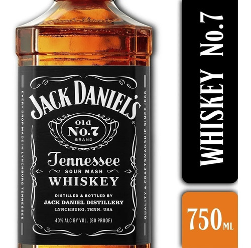 whisky jack daniels old n°7 750ml en estuche