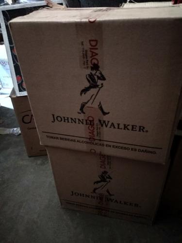 whisky jhonnie walker etiqueta negra caja ( 12 unidades)