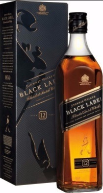 whisky jhonny walker black label original c/dosador -1 litro