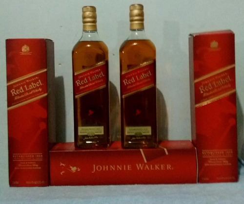 whisky johnnie rojo 1 litro por cajas garantizadas