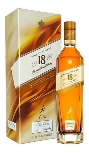 whisky johnnie walker 18 años  750ml 100% original