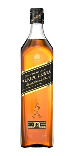 whisky johnnie walker black label 12 anos 750ml brinde + nf