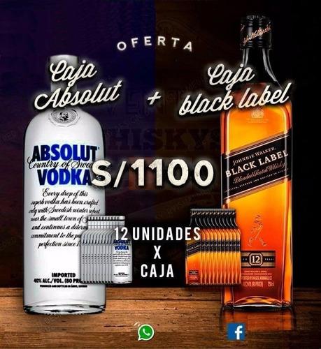 whisky johnnie walker black label (etiqueta negra) x 12  690
