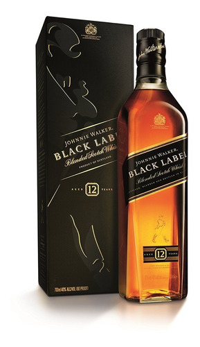whisky johnnie walker black label(1000ml) litro100% original