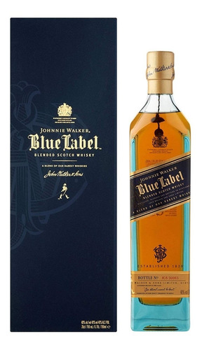 whisky johnnie walker blue label (1.botella) 100% original