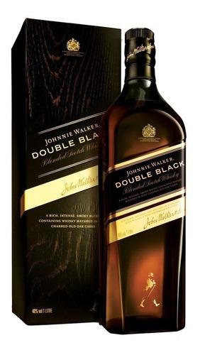 whisky johnnie walker double black (1.litro) 100% original.