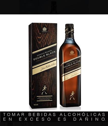 whisky johnnie walker double black - etiqueta 2black 750ml