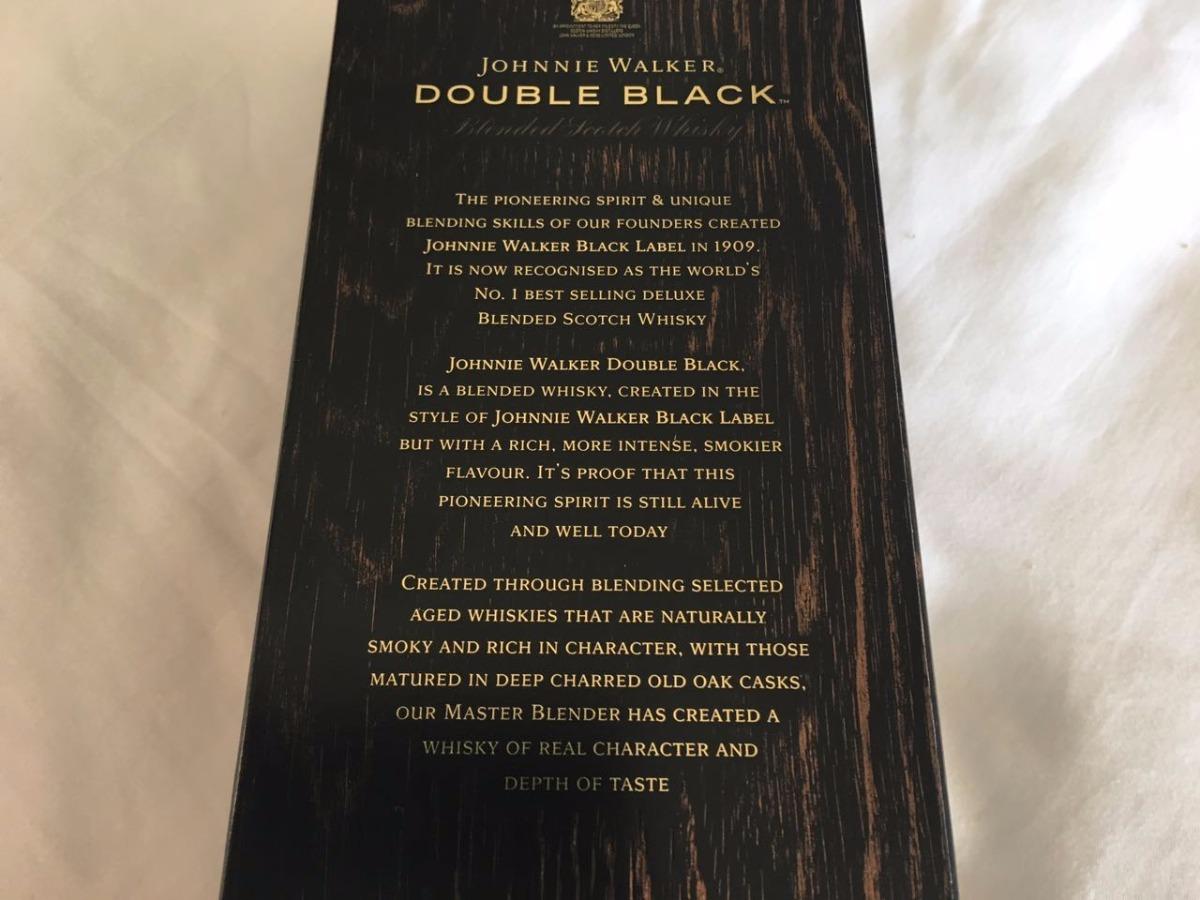 868f46935f747 Whisky Johnnie Walker Double Black Frete Gratis - R  209