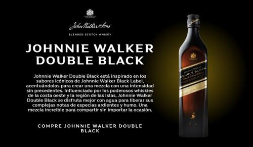 whisky johnnie walker double black jw 750ml botella bebidas
