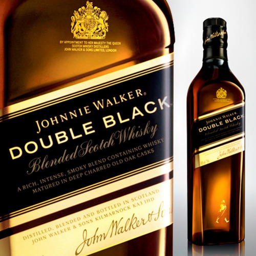 whisky johnnie walker double black jw 750ml botella bebidas