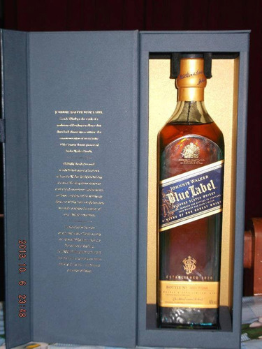 whisky johnnie walker etiqueta azul blue label 100% original