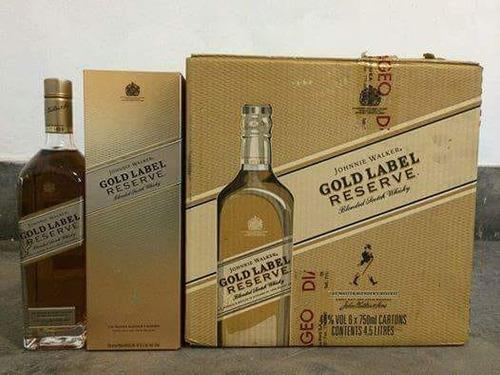whisky johnnie walker etiqueta dorada (750ml)