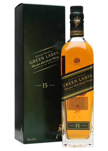 whisky johnnie walker green label 15 años botella