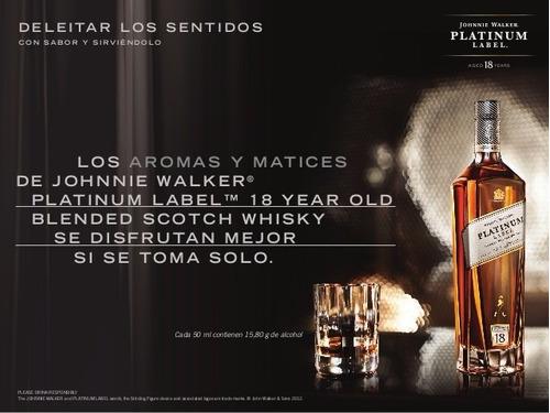whisky johnnie walker platinum 2 botellas escoces