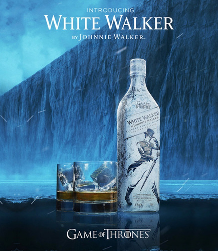 whisky johnnie walker white j.w. white blanco game of throne