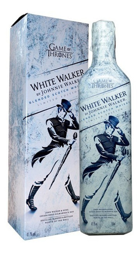 whisky johnnie walker white walker - game of thrones 750ml -