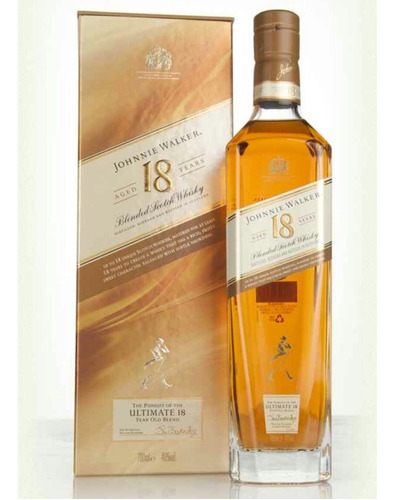 whisky johnny walker 18 años botella