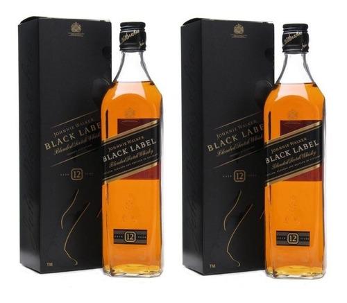 whisky johnny walker black de litro 2 botellas label oferta