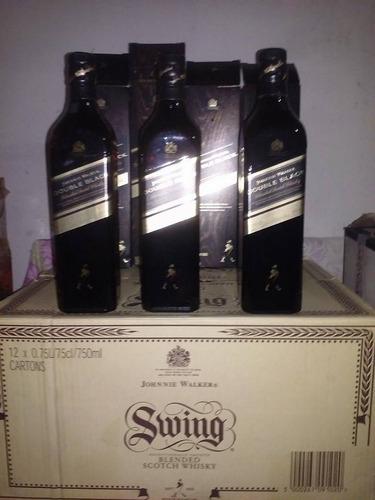 whisky johnny walker double black etiqueta azul 100%original