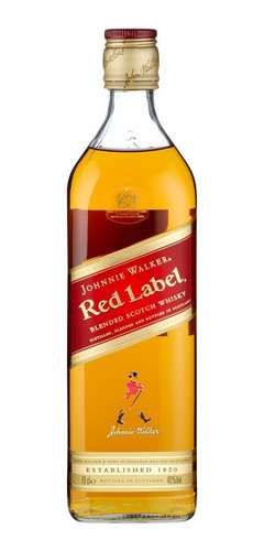 whisky johnny walker red label 1000ml 1 litro jw j.w. rojo