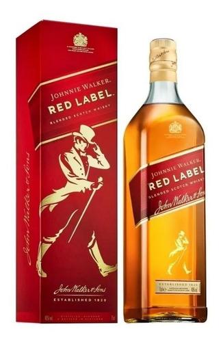 whisky johnny walker red label 750ml rojo 01almacen