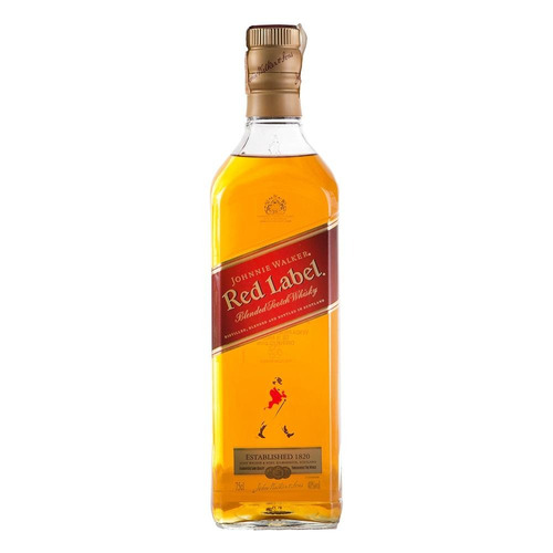 whisky jonhnnie walker blened scotch red label 750ml