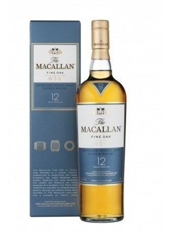 whisky macallan 12 años, single malt /bbvinos