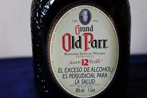 whisky old parr 12 años / 1 litro / caja original