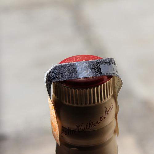 whisky red label 1 litro + brinde