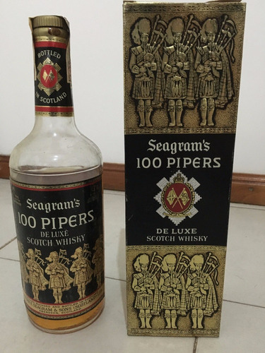 whisky seagrams 100 pipers