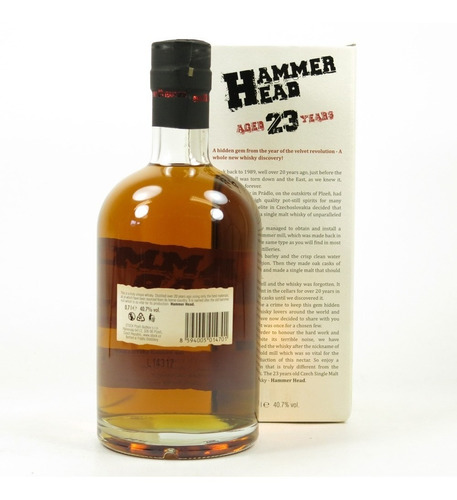 whisky single malt hammer head 23 años 700ml en estuche!